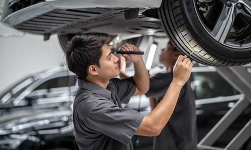 Volkswagen Tire Inspection