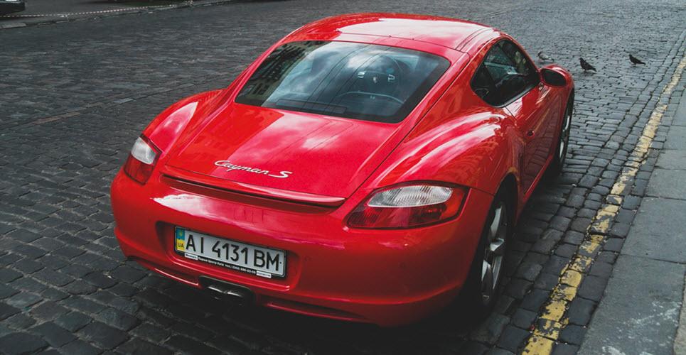 Red Porsche Cayman S